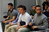 Los cuatro acusados de los incidentes en el Casco Viejo de Pamplona de...