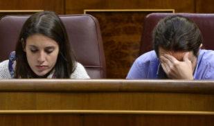 Irene Montero y Pablo Iglesias, en el Congreso de los Diputados.