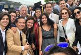 Mario Vargas Llosa, Patricia y demás familia en Boston.