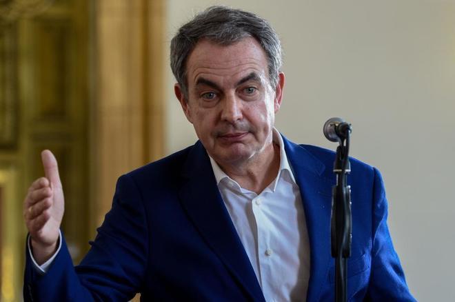 El ex presidente español José Luis Rodríguez Zapatero, en Caracas.