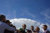 El presidente de la Generalitat, Quim Torra, a su salida de la prision...