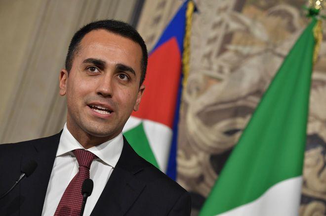 El líder del Movimiento Cinco Estrellas, Luigi Di Maio.