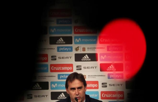 Julen Lopetegui, durante la rueda de prensa en la que anunció la lista.