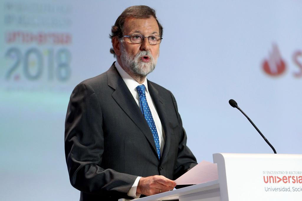 El presidente del Gobierno, Mariano Rajoy, este martes en Salamanca.