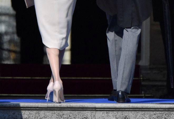 Plano diferente de Meghan Markle y su ya marido, el príncipe Harry.