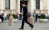 Giuseppe Conte a su llegada al encuentro con Sergio Mattarella, en...