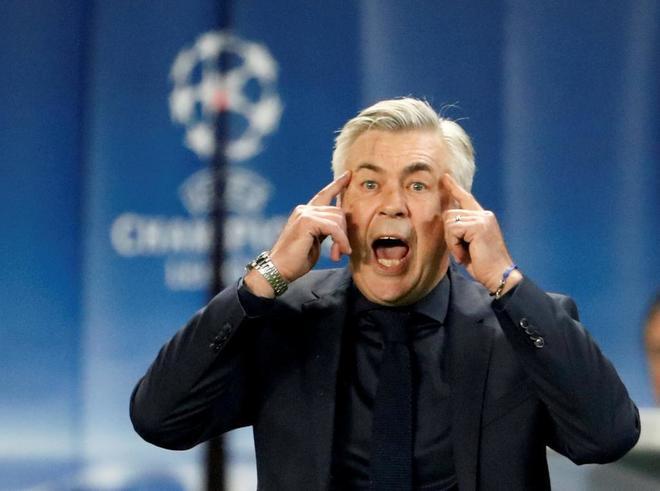 Carlo Ancelotti cuando era técnico del Bayern Munich.