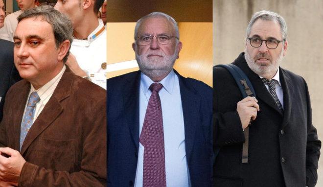 Juan Cotino (en el centro) junto a sus sobrinos también detenidos...