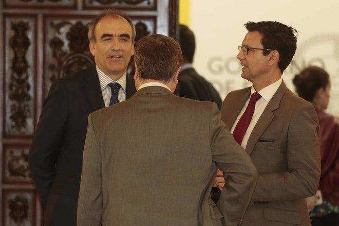 Manuel Niño y Francisco Cuenca este miércoles en Granada.