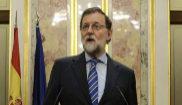 Mariano Rajoy, ayer en el Congreso, tras aprobarse los Presupuestos...