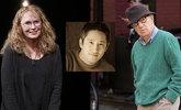 Mia Farrow, su hijo Moses, y Woody Allen.