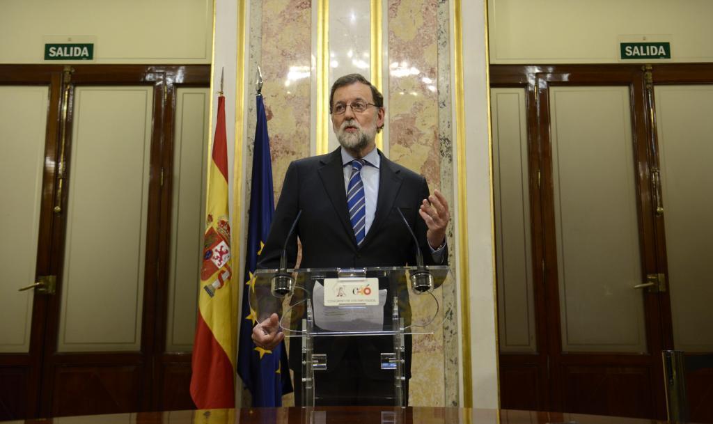 Mariano Rajoy, este miércoles en el Congreso.