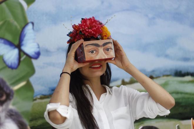 Kahlo en textura digital