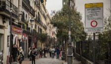 Plano de la zona del centro de Madrid con restricciones al tráfico