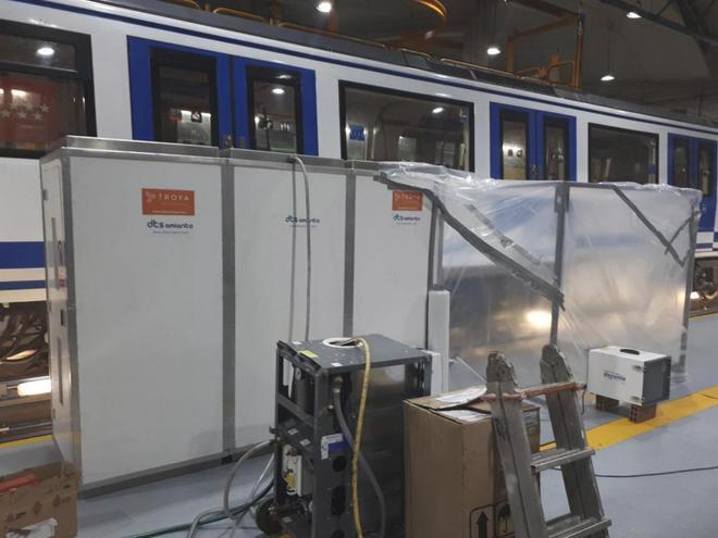 Comienza la retirada del amianto del Metro de MadridMetro invertirá