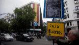 Protestas ante la sede del PP de la calle Génova, en Madrid, tras la...