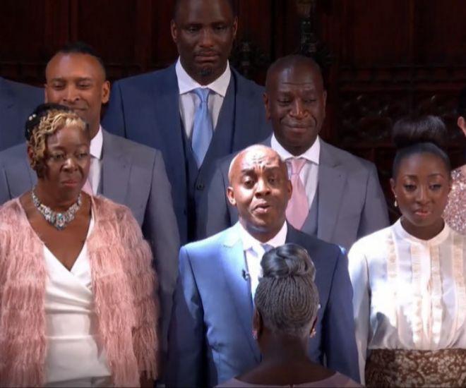 El coro de gospel de la boda