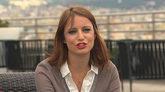 Andrea Levy, durante una entrevista en Barcelona el pasado 13 de mayo.