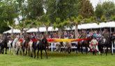 Exhibición ecuestre de la Guardia Real en Logroño por la...