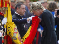 Simoneta juró bandera ante Felipe en 2013.