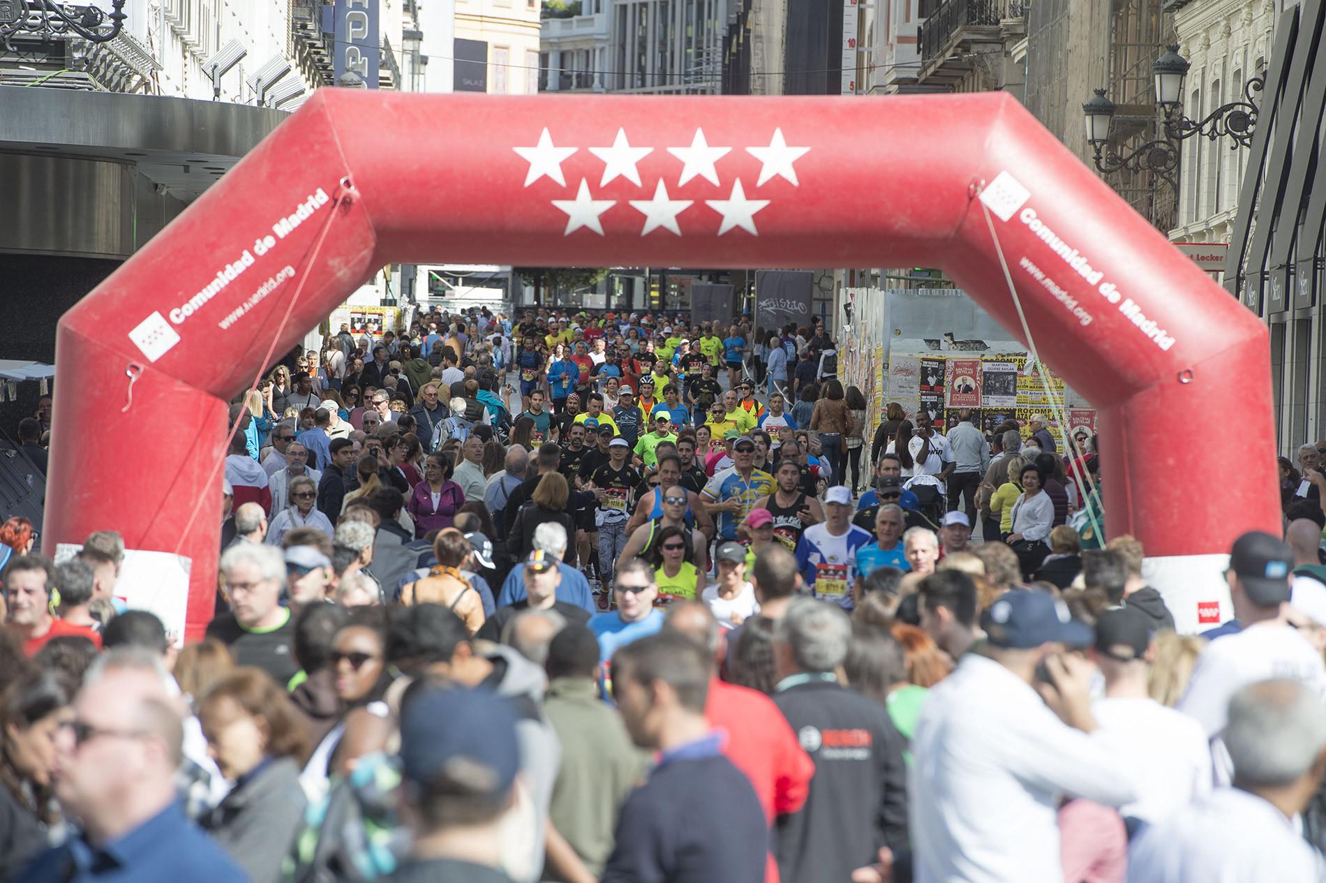 Corredores en el maratón de Madrid.