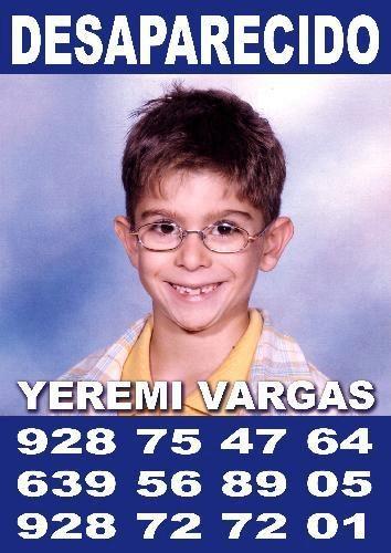 Cartel de la desaparición de Yeremi Vargas en 2007.