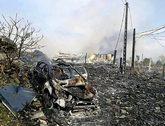 Lugar donde se produjo la explosión de la fábrica de material...