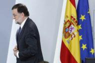 El presidente del Gobierno, Mariano Rajoy, ayer durante el Consejo de Ministros.