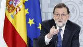 El presidente, Mariano Rajoy, en la rueda de prensa tras el Consejo de...