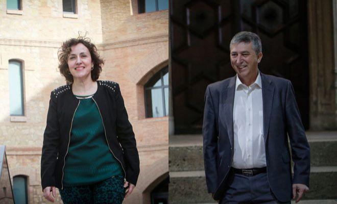 La directora general de Industria, Julia Company, y el conseller de Economía, Rafael Climent.