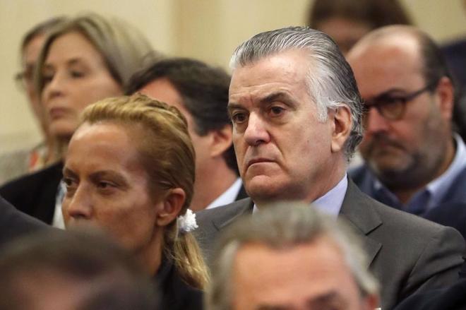 El ex tesorero del PP, Luis Bárcenas, durante el juicio de Gürtel