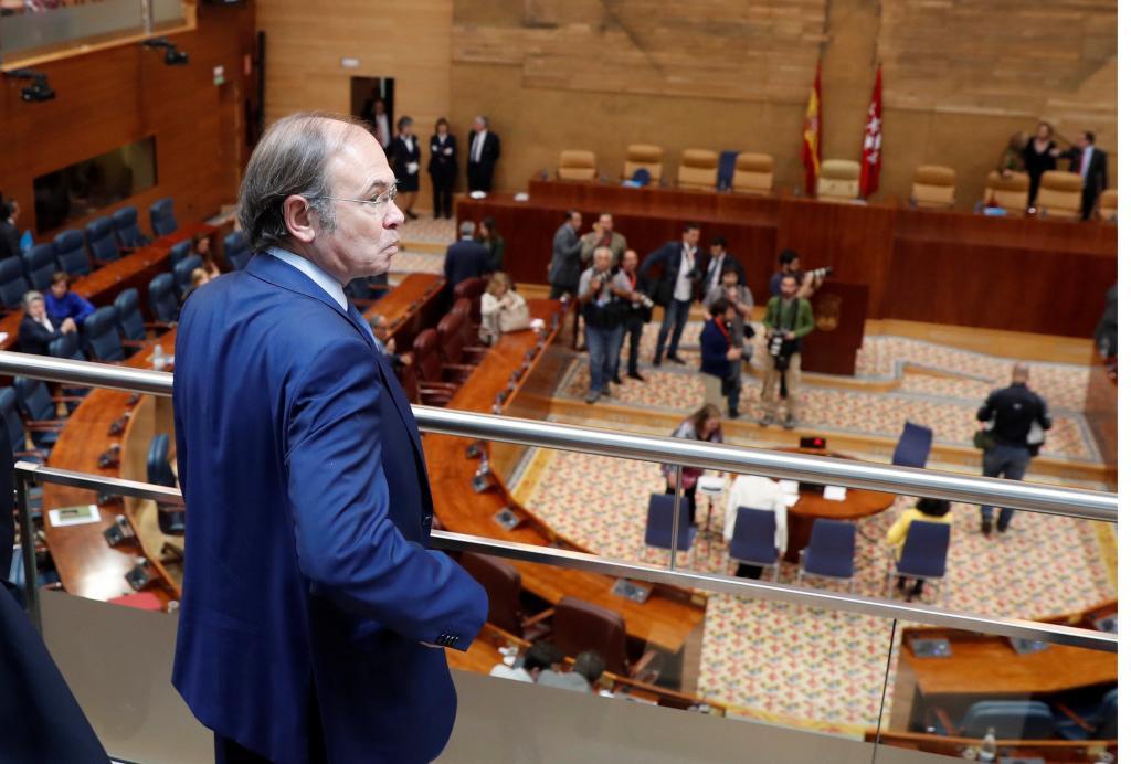 El presidente del PP de Madrid, Pío García-Escudero, en la reciente investidura de Ángel Garrido como presidente de Madrid.