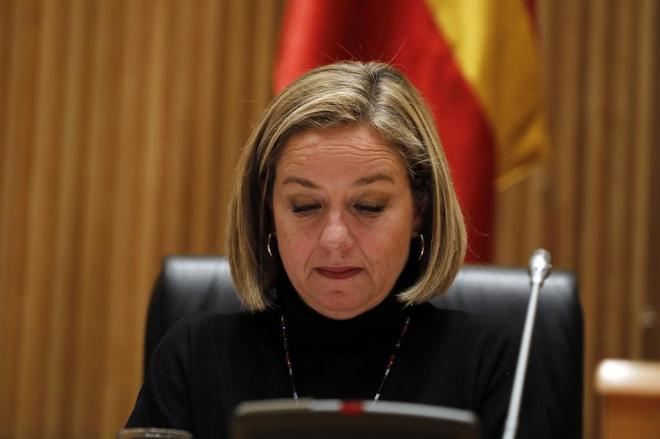 Ana Oramas, diputada de Coalición Canaria, durante una comisión en...