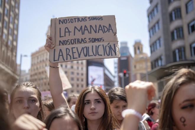 Manifestantes en Madrid contra la sentencia de La Manada.