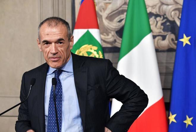 El candidato Carlo Cottarelli.