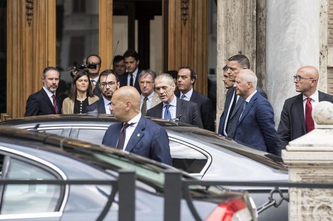 El recién designado primer ministro italiano, Carlo Cottarelli, en Roma (Italia).