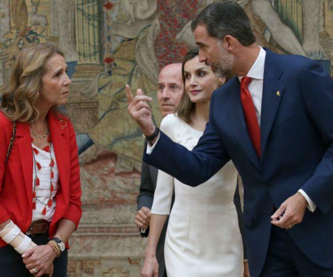 Doña Elena junto a los Reyes en una imagen de archivo