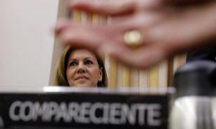 María Dolores de Cospedal, durante su comparecencia en la comisión...