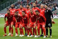 El once de Túnez en un amistoso ante Portugal el 28 de mayo.