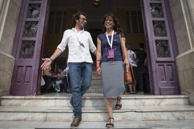 El alcalde de Cádiz, José María González 'Kichi', y la diputada de Podemos Teresa Rodríguez.