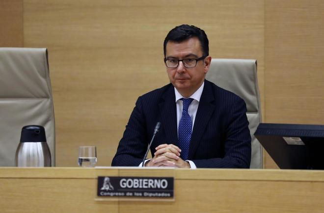El ministro de economia, Roman Escolano