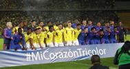 Los jugdores de la selección colombiana.