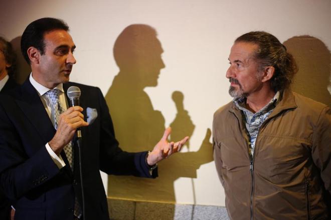 Ponce apadrinó la exposición de José María Caro en Las Ventas, a 24 horas de hacer el paseíllo en San Isidro