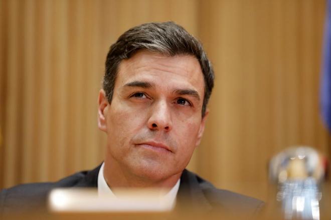 El secretario general del PSOE, Pedro Sánchez, en el Congreso