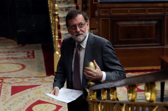 Mariano Rajoy, hoy, en el Congreso.