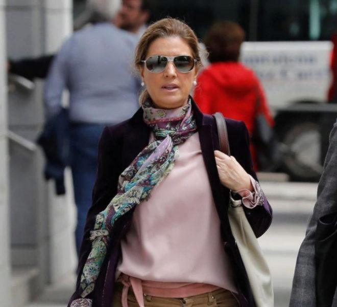 Rosalía Iglesias, mujer de Luis Bárcenas, a su llegada a la Audiencia Nacional.