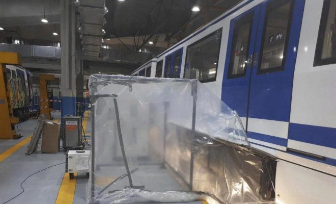 Obras para eliminar el amianto en el Metro
