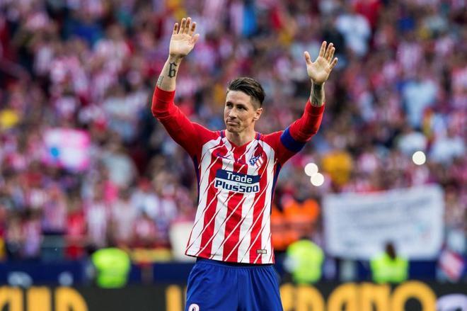 Fernando Torres, en el día de su despedida del Atlético.