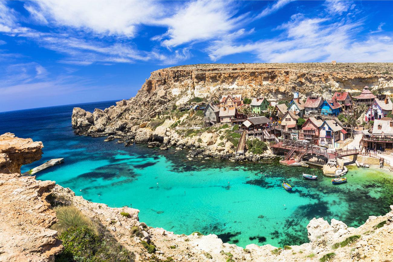 Malta presume de tener un mar espléndido, tan...
