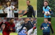 Leo Messi, Harry Kane, Neymar Jr, Cristiano Ronaldo, Antoine Griezmann y Iago Aspas.